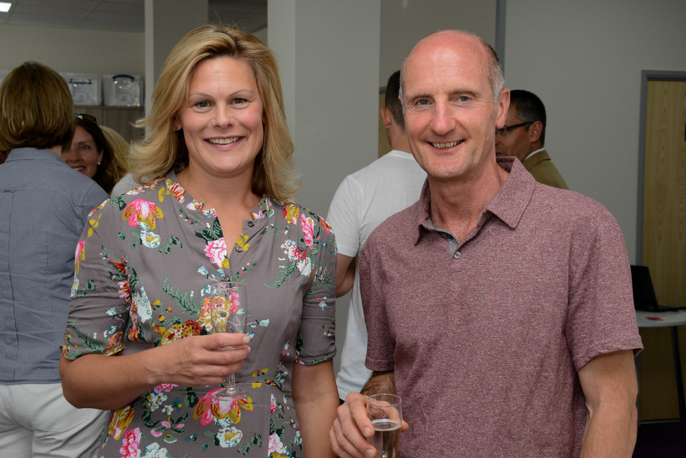 Charity patron Kate Bliss with Chair of Trustees, Tim Wheeler. Photographer: James Maggs.