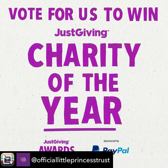 We have just heard that, out of the thousands of charities on @JustGiving, @officiallittleprincesstrust  is in the Top 10 for most votes so far for the Just Giving Charity of the Year Awards!! 👏🙌👏🙌👏🙌 Thank you so much to everyone who has voted so far! Please, could you push us over the finish line by sharing the link below to your own social media feeds and encouraging everyone you know to vote for The Little Princess Trust!! Let's do this, people!! #winitwednesday 👊👊👊 The voting deadline is 26th September.  www.justgiving.com/forms/awards/2018/coty  You can also head over to @officiallittleprincesstrust and hit the link in bio to vote now! 👆👆👆👆👆👆 #justgiving #charityoftheyear #littleprincesstrust