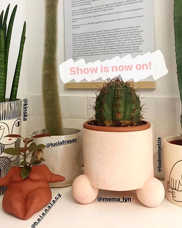 "@prickldn has commissioned over 60 female artists to create vessels for the shops beautiful cacti and succulents, to celebrate @l_d_f_official  Go see the show ""KERAMOS"" (I'm one of the ladies showing a pot) 🌵💃🏻👏🏽"