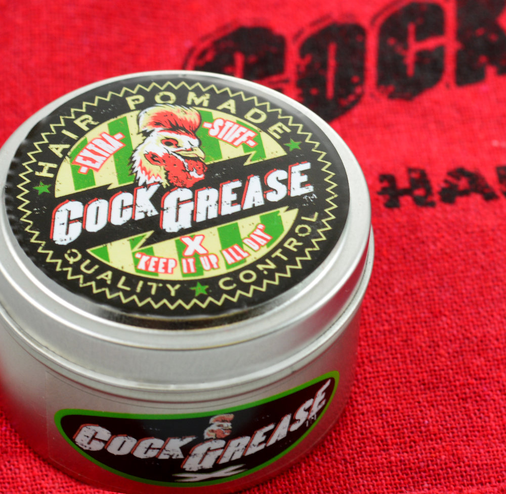 Product Spotlight - Cock Grease X pomade is great for hair of all types. Use after blowing dry for added flexibility and to avoid frizz. Recommend hairstyles include Bobs, Straight Parts, and Soft Pompadours.