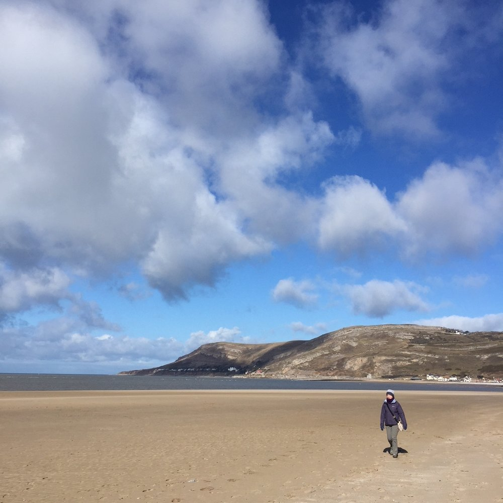 - The cold snap soon ended though and we had some beautiful crisp days when we enjoyed walks, including one from Llandudno Junction to West Shore beach and back.