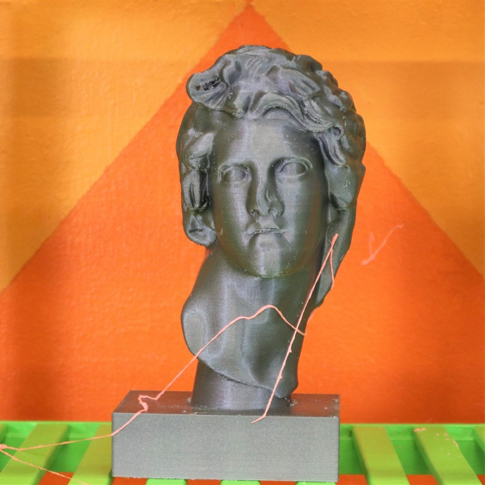 Vaporwave_Floral_Shoppe_Bust _of_Helios   2018  polylactic acid 3D print  3D print made secretly in military contractor's printing lab using model design purchased online