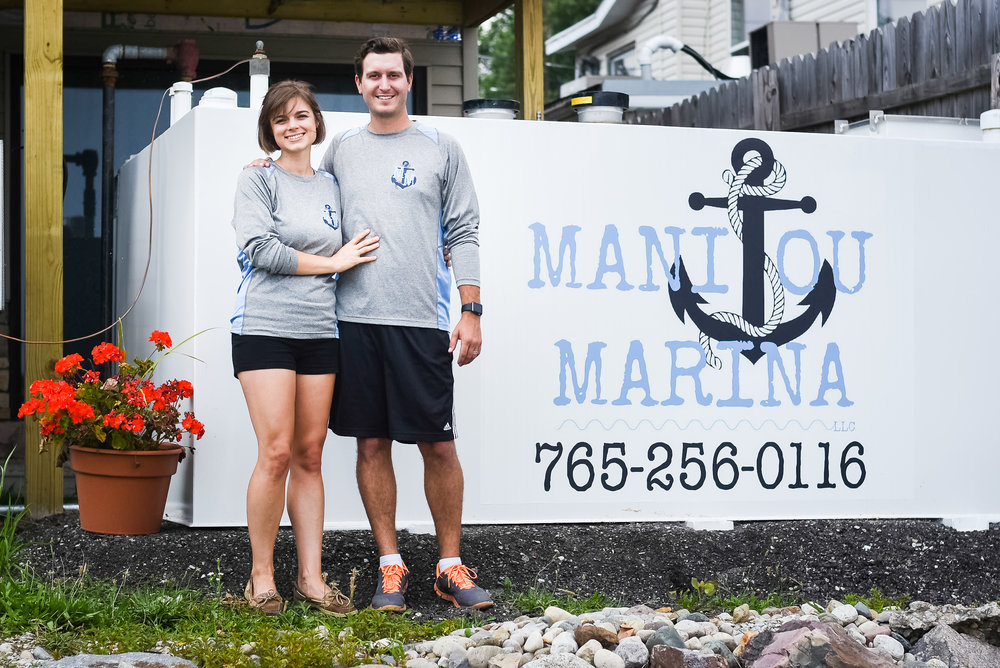 Mason and Aereka Heyde, owners of Manitou Marina