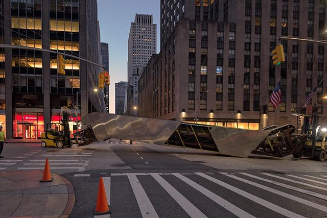 Pictured is an escalator that was removed from a Class A building, with a Fortune 500 corporate tenant, as it is being moved down 6th Avenue in the early morning hours. A repositioning of this Class A building consisted of a removal of two escalators serving the mezzanine level, a full lobby renovation including new elevator cab interiors and by the way, the two escalators removed were in tandem with two lower units that will remain in service. DTM Inc. is up to any challenging job!  #escalator #escalatorremoval #removal #elevator #elevators #NewYork #NewYorkCity #NYC #elevatorcab #interiors  #consultants #vertical #transportation #systems #verticaltransportationsystems #DTM #dtminc #fortune500 #buildings #cab #repositioning #corporations