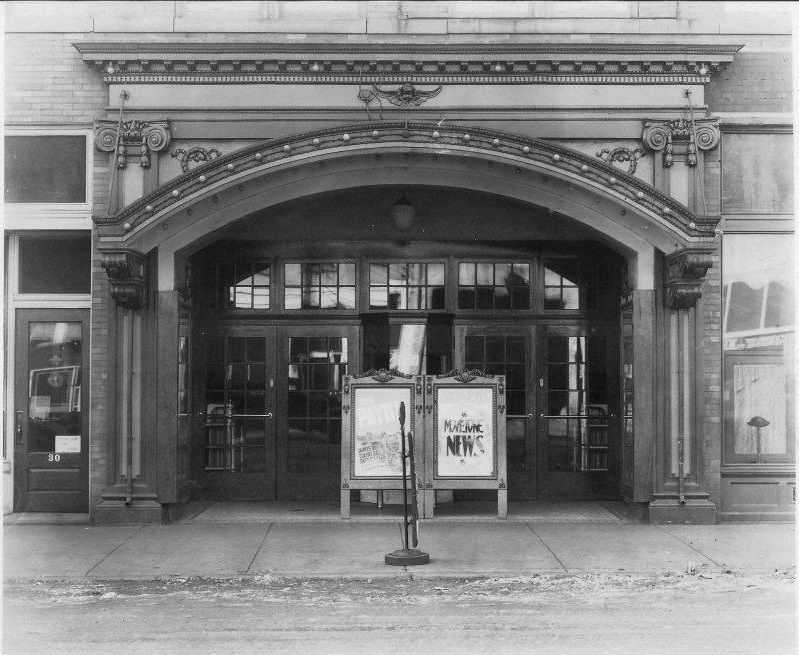 The theatre in its early days, without a marquee