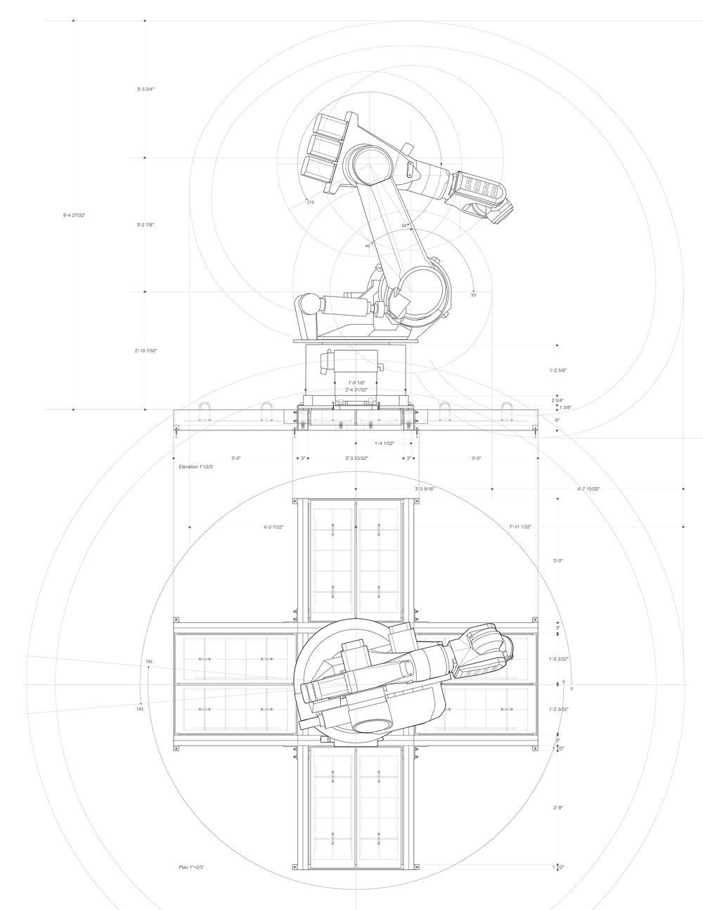 Kuka Kr-200 Elevation/ Plan