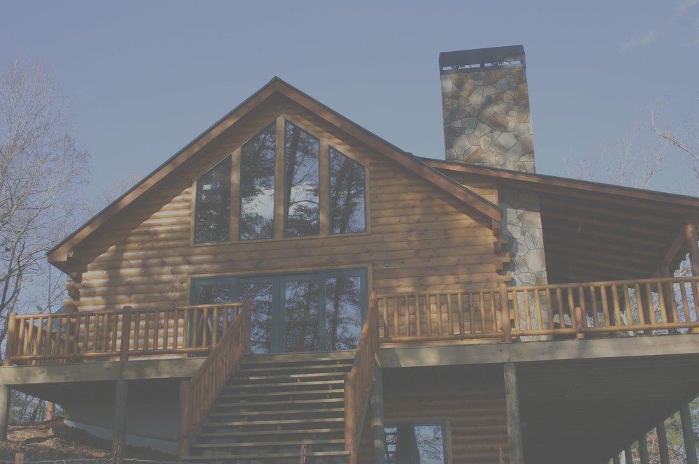 Lake BurtonLog Home -