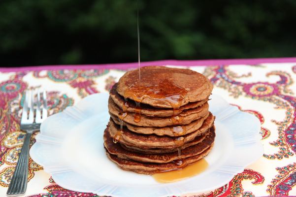 Pecan Flour Buttermilk Pancakes Author: Dédé Wilson Makes: Makes about 12, 3-inch pancakes   Ingredients ¾ cup old-fashioned rolled oats (not quick or instant) 1/4 cup Oliver Farm pecan flour 1 tablespoon sugar 1 teaspoon baking powder ½ teaspoon baking soda ¼ teaspoon salt 1 teaspoon vanilla extract 1 cup low-fat or nonfat buttermilk, at room temperature (extra as needed) 1 large egg, at room temperature 1 tablespoon  Oliver Farm Pecan Oil Instructions Place all the ingredients in a blender and blend on high speed until smooth. Check batter; it might look loose. Allow to sit for a minute or two; it should thicken up. If it doesn't, add a tablespoon or more of buttermilk in addition. Heat electric griddle, nonstick pan or cast-iron with a bit of melted butter until a few drops of water dance. Doll out about ¼ to ⅓ cup amounts of batter at a time and cook over medium heat until a few bubbles appear around the edges. The bottoms should be golden. Flip over and cook for a minute or two more. Serve hot with real maple syrup and fruit if desired.   Images: Dédé Wilson