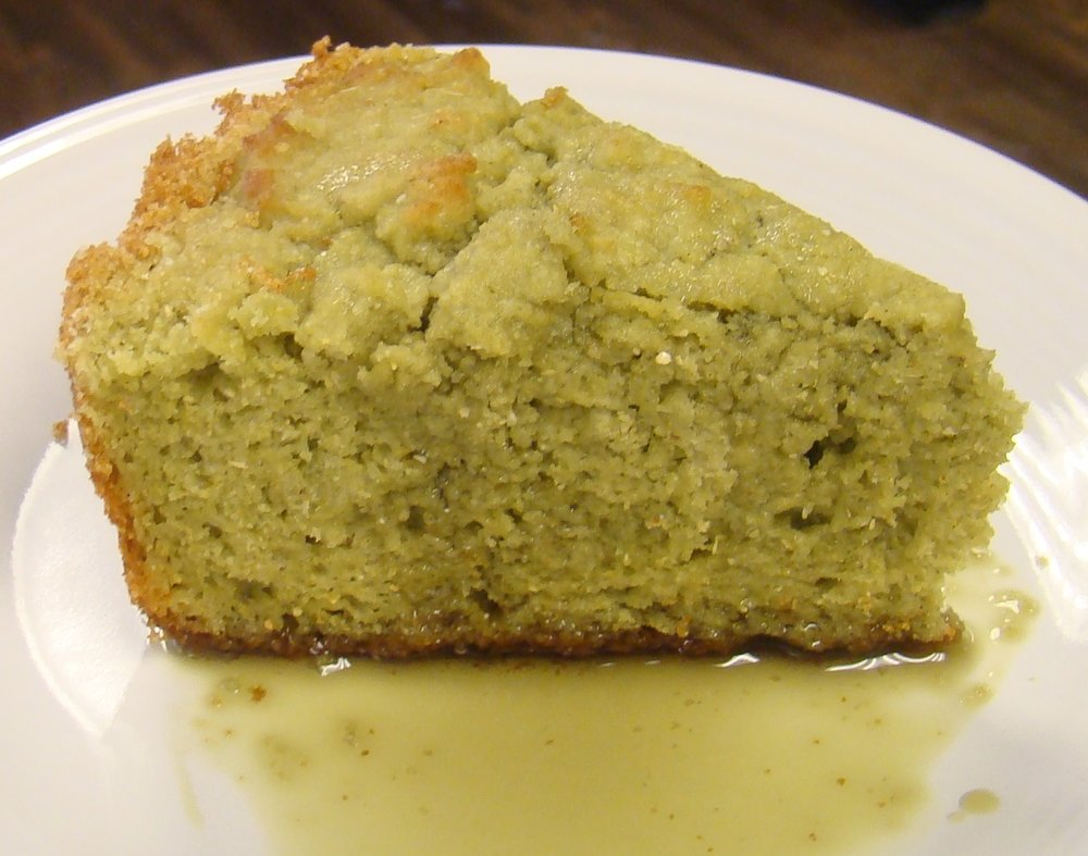Pumpkin Flour Cornbread    By Arty Schronce    Ingredients:    2 eggs    2 tbsp Oliver Farm Pumkin Seed oil    1 cup water    1/2 cup milk or buttermilk    1 cup corn meal + 1 cup Oliver Farm Pumpkin flour    2 tsp baking powder    1 tsp salt    1 tbsp sugar (optional)    Directions:    Preheat oven to 450° - preheat baking pan with butter or grease. (9-inch cast iron skillet). Beat eggs in a mixing bowl. Add remaining ingredients in order listed; stir until well blended. Pour batter into hot pan and bake 20-25 minutes or until golden brown. Drizzle with Oliver Farm Pumpkin Seed oil or butter!    Makes one 9-inch pan or 8-12 muffins or 12-16 small muffins.