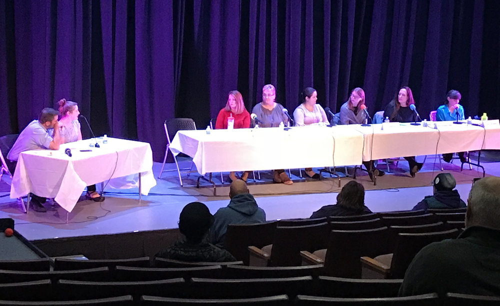 """Co-Founder, Holly, part of Concord Monitor's """"Finding Hope"""", panel, addressing the community of Concord NH."""