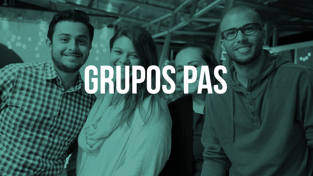 Grupos PAS es nuestro programa de grupos pequeños de la Comu. Ingresa para conocer más y buscar tu Grupo PAS más cercano!