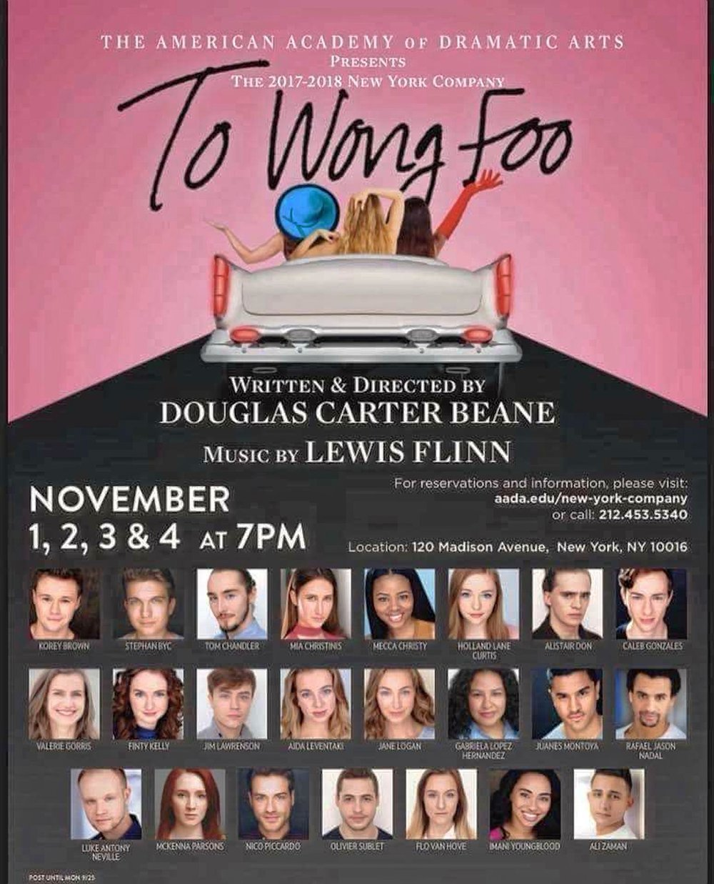 to wong foo - Finty will be playing the role of Betty Lou and Our Lady of the Highway Sky and Sea in the world premiere of Douglas Carter Beane's new musical. Adapted from his original screenplay starring Patrick Swayze and Wesley Snipes. Director: Douglas Carter Beane Music: Lewis FlinnMusical Direction: Brad SimmonsChoreography: Lorin Latarro and Shiloh GoodinPerformance Dates: November 1st, 2nd, 3rd, and 4th 2017