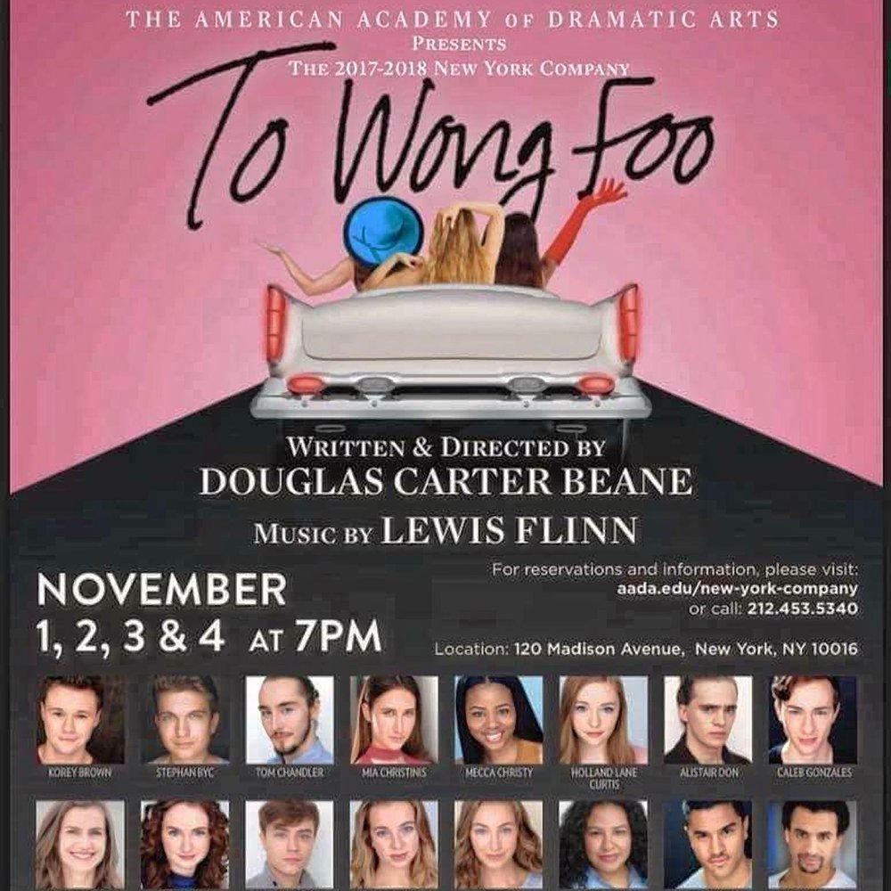 TO WONG FOO - Finty will be playing the role of Betty Lou and Our Lady of the Highway Sky and Sea in the world premiere of Douglas Carter Beane's new musical. Adapted from his original screenplay starring Patrick Swayze and Wesley Snipes.Director: Douglas Carter Beane, Music: Lewis Flinn, Musical Direction: Brad Simmons, Choreography: Lorin Latarro and Shiloh GoodinPerformance Dates: November 1st, 2nd, 3rd, and 4th 2017