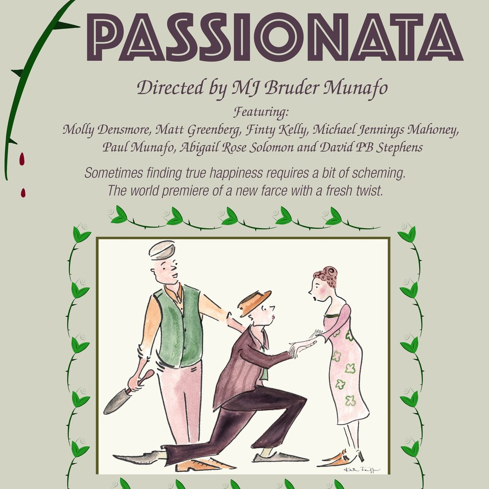 PASSIONATA - Finty will be making her professional acting debut this summer at Martha's Vineyard Playhouse in a new play written by Gwyn McAllister and directed by MJ Bruder Munafo.Previews: June 23rd - 26th 2018Performance Dates: June 27th - July 14th 2018