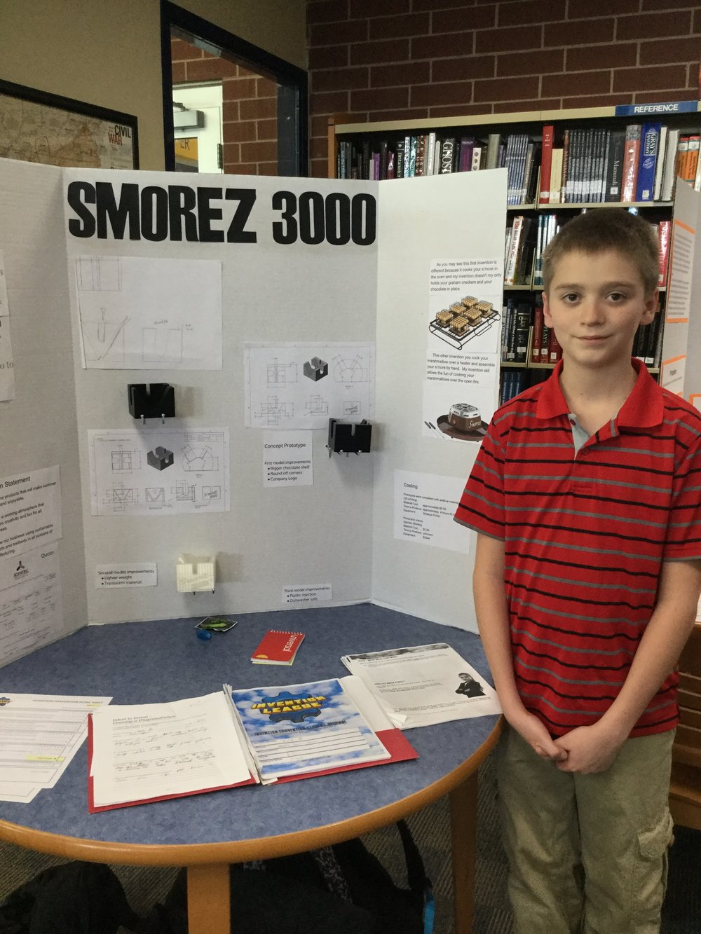 Zach Bachmann with his no-mess S'mores maker.