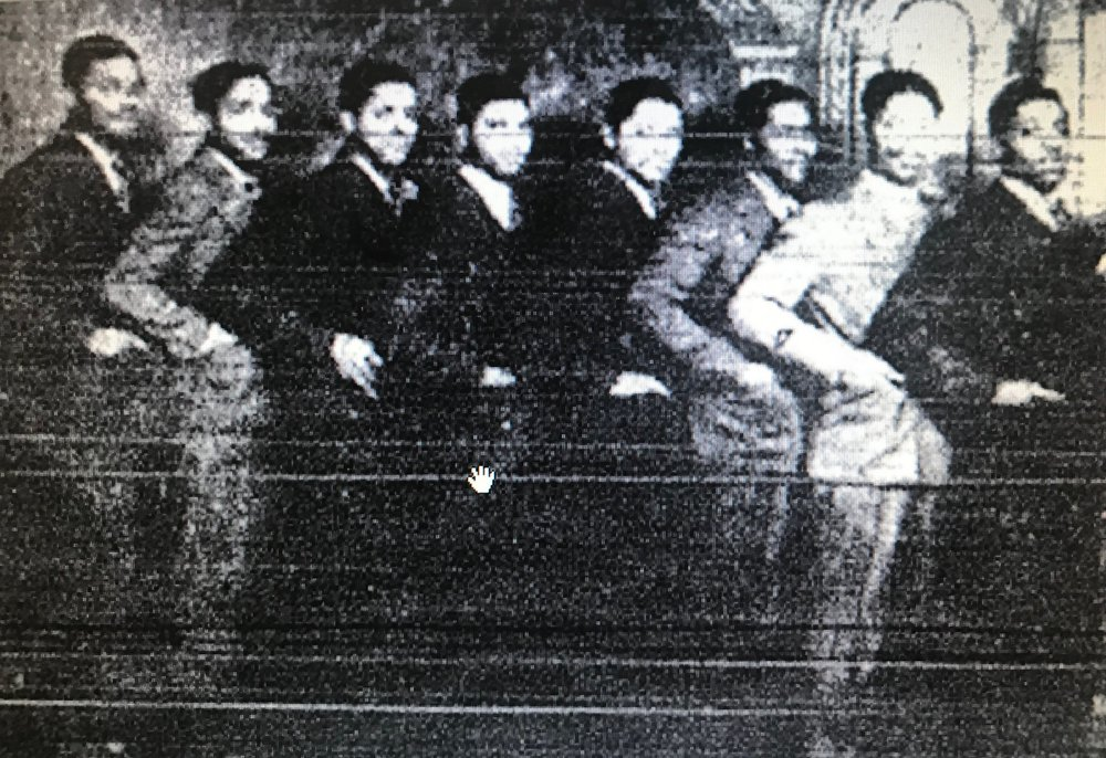 "The Myers Brothers - ""The Myers Brothers"" who ""drove taxis during the week and, on the weekends, were well-known as the Myers Brothers Dance Band. They played in Cincinnati and Dayton and included John, Elhue (unsure of spelling), David, James, Cleophus, Clarence, Frizell and William (The Shoe Shine Doctor)."""