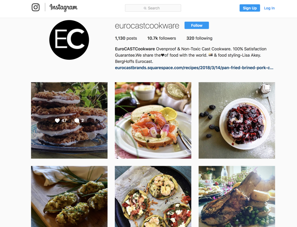 EuroCAST Instagram - When you just cannot get enough, we're here with recipes, tips, and tricks for great cooking in your favorite cookware.