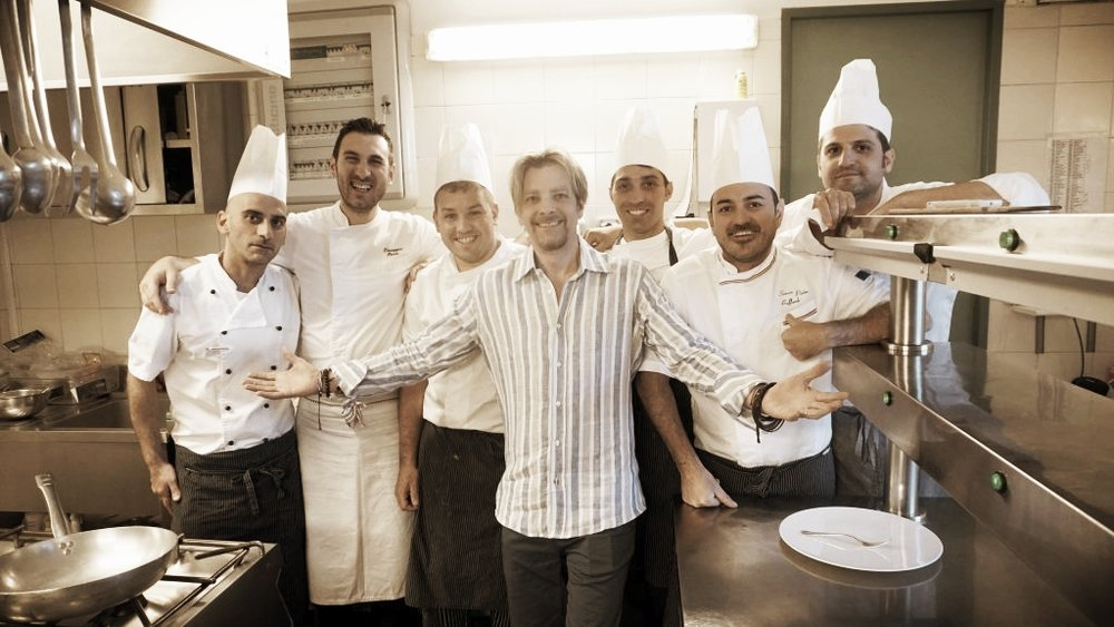 Joel in Positano with some awesome kitchen staff. Thanks to Joel, you can now get our already-discounted Starter Set for an additional $60 off with coupon code RECIPE30STARTER. Just click the button below to find out more!
