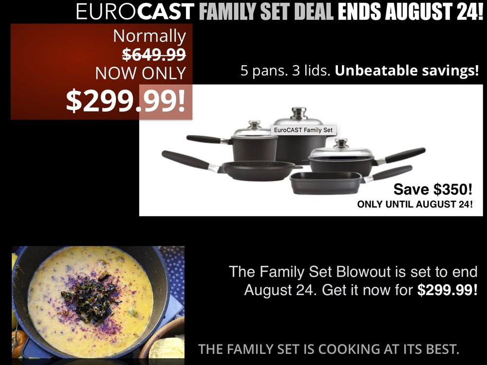 Be sure to use the promotion code FAMILY3 when checking out to get the Family Set special price.