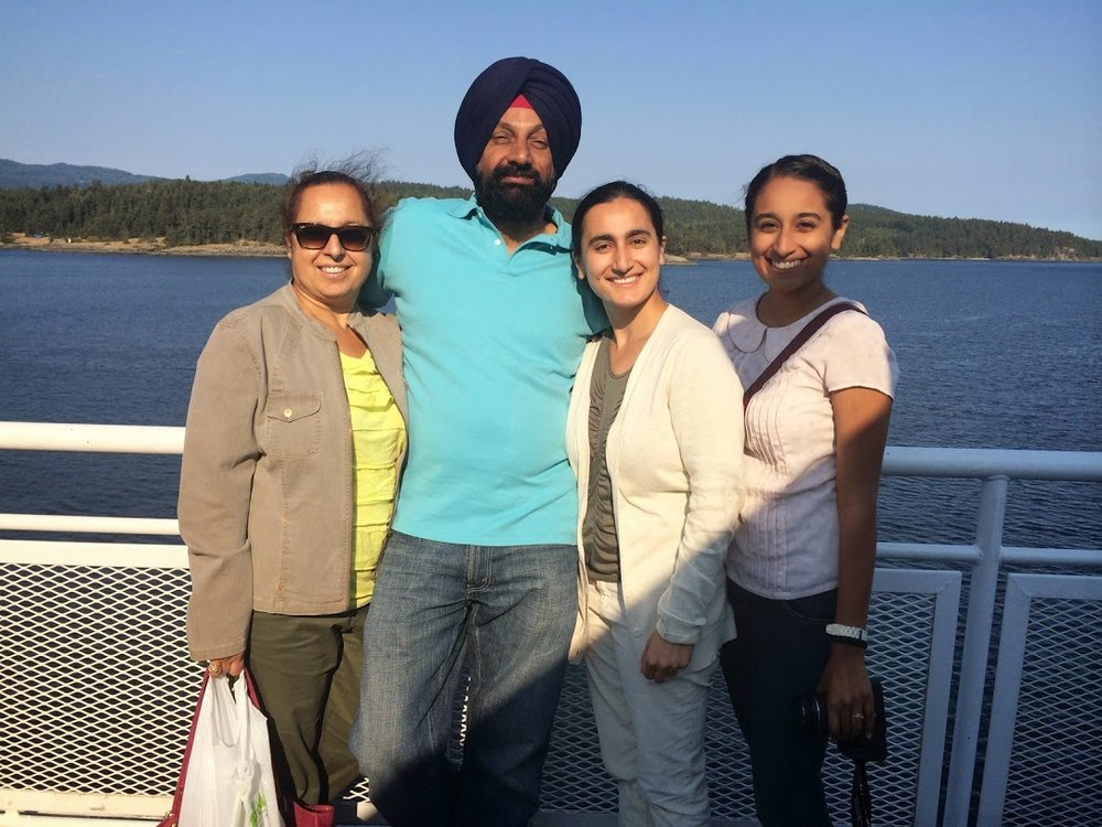 On a ferry to Victoria, British Columbia, Canada. August 11, 2014.