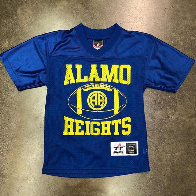 Youth football jerseys are in!! Stop by and pick one up. You can even add your name and number for $10.00. #shoplocal #supportlocal #ah
