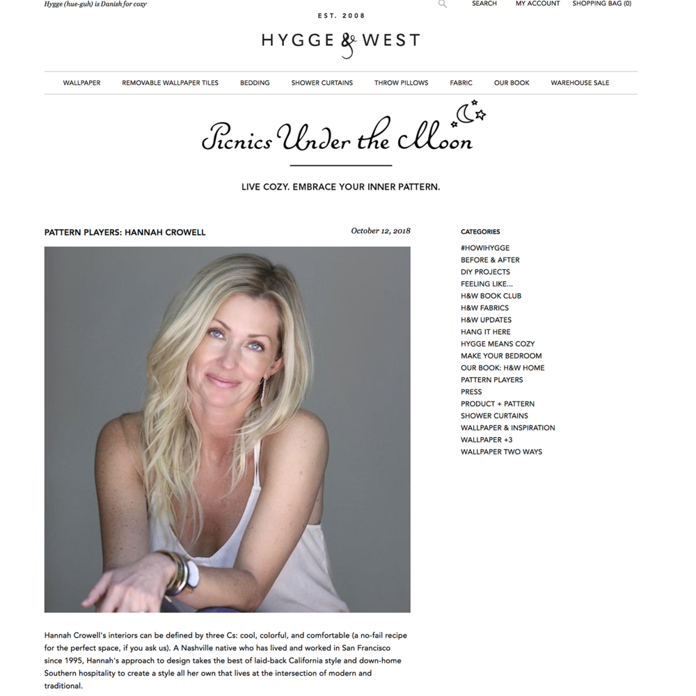 HYGGE & WEST  October 2018