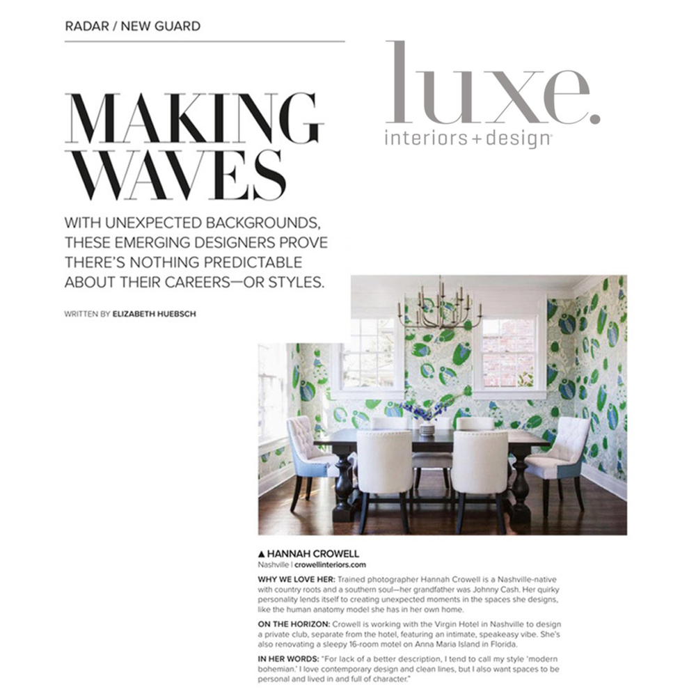 LUXE INTERIORS & DESIGN January/February 2019