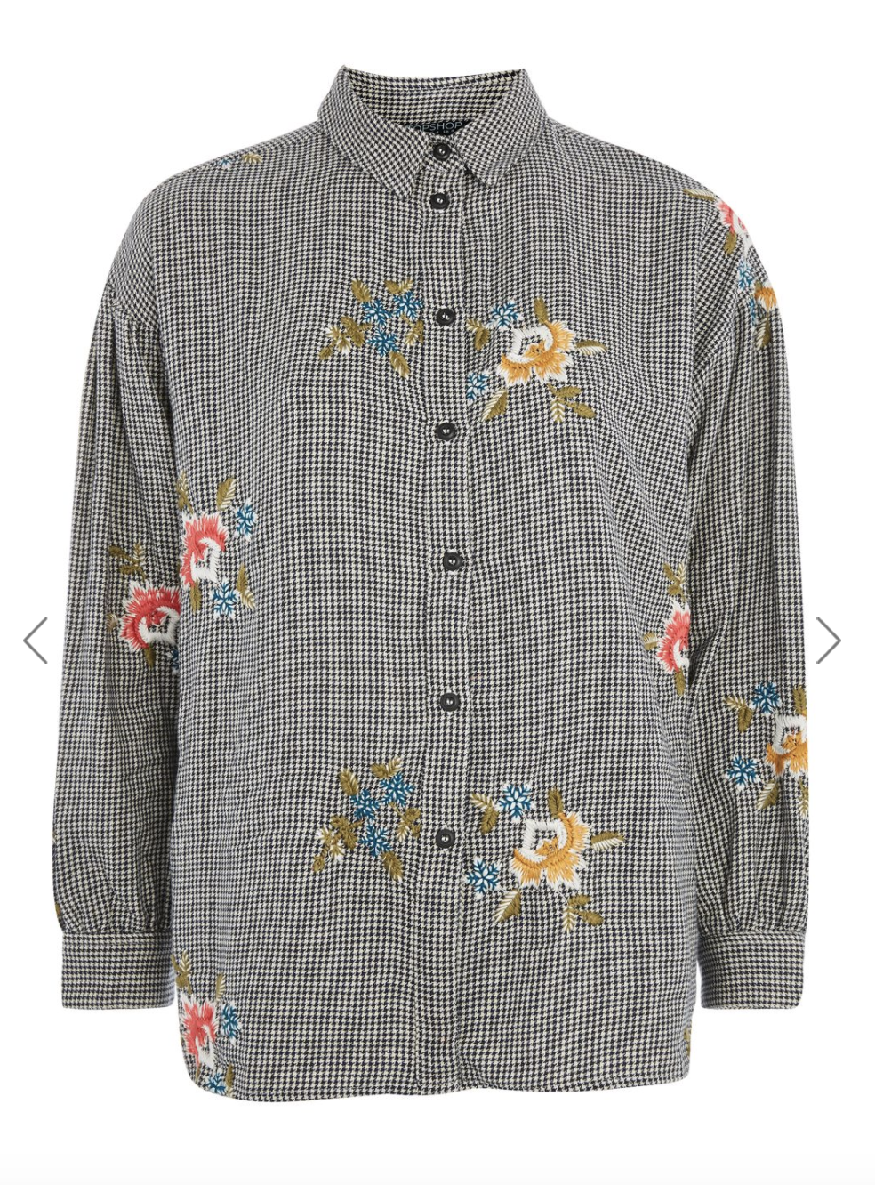 Loving embroidery. This TOPSHOP shirt is perfect for my brunch!