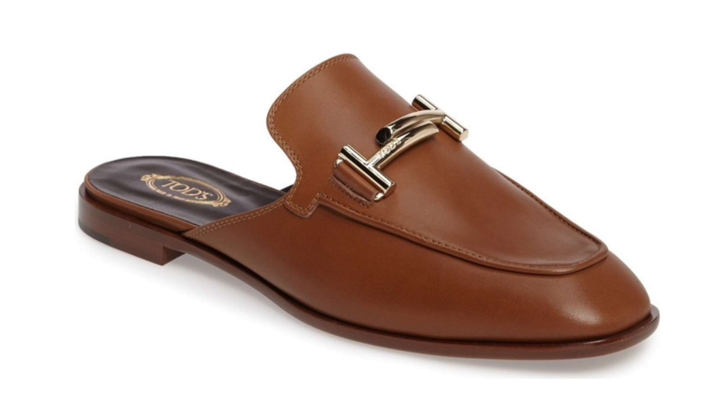 I literally wear these Tod's mules with everything