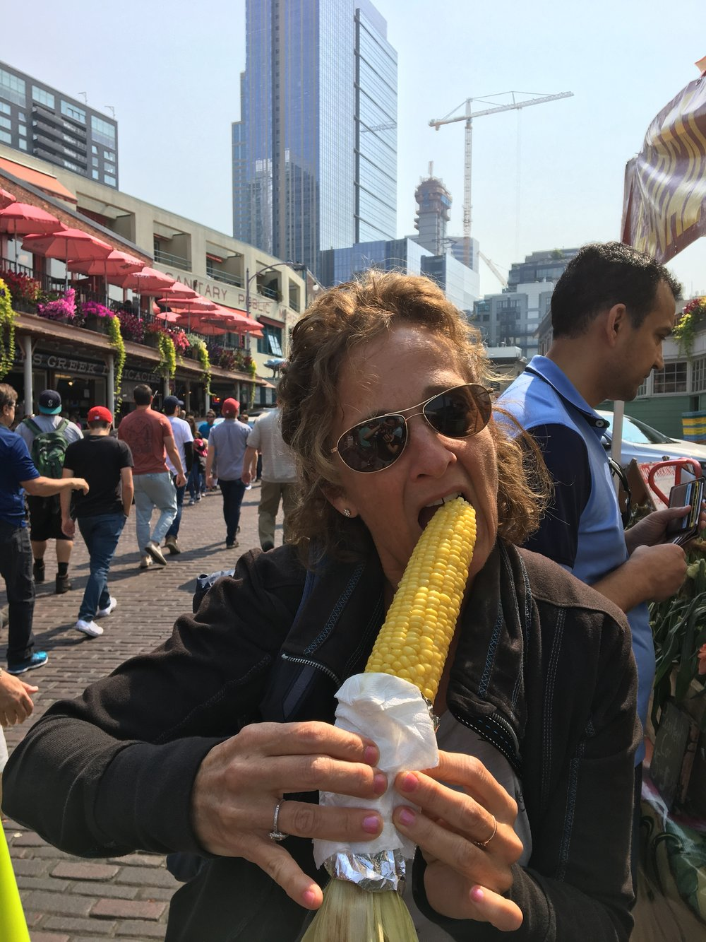 My sister Laura thinks the corn is great too!