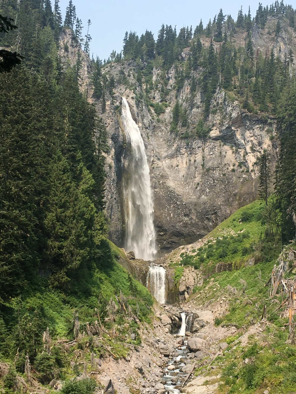 One of the falls on our amazing hike up Mt. Rainier.