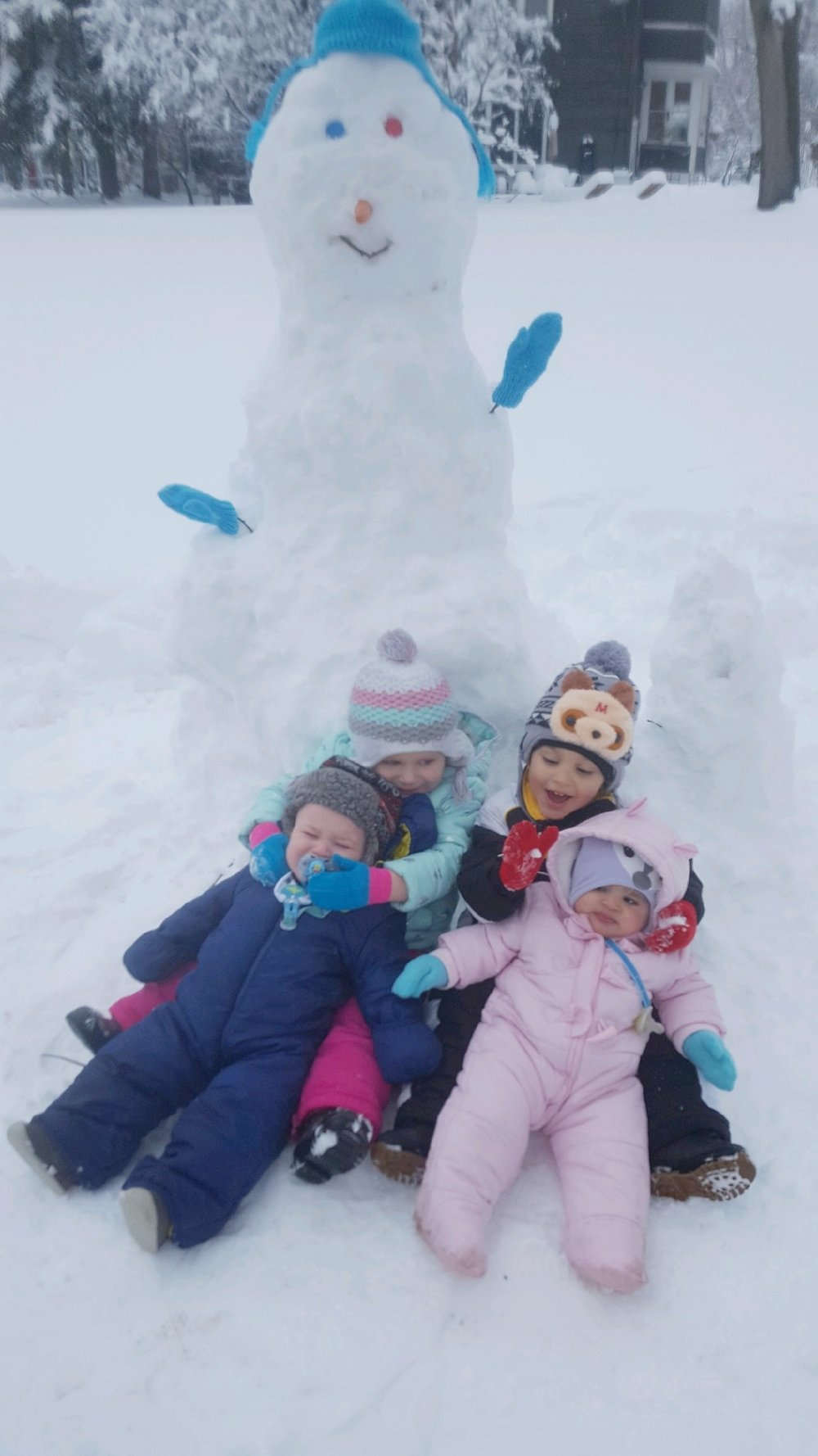 Not all of our little ones appreciated the new fallen snow!