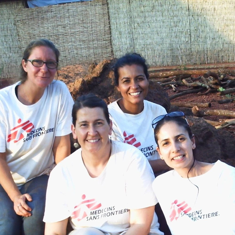 Gurpreet Kaur  (pictured back right)– Medical School for International Health (MSIH)  Class 0f 2012  Gurpreet jumped around a lot before she started residency and continues to jump around thereafter.   Her primary career interest is in international health/under resourced settings, especially in areas with difficult medical access.  Following graduation, Gurpreet worked a year in a FQHC in Saginaw, Michigan before moving to work with Médecins Sans Frontières (MSF).  Since then, she has jumped between locums assignments in Michigan (outpatient and urgent care) and MSF assignments in Africa.  Gurpreet has worked for MSF within a variety of medical roles including medical doctor in a pediatric malnutrition ward (SNNPR, Ethiopia) and start up project (Thonyor, South Sudan); mobile medical team manager (Somali Region, Ethiopia), outreach surveillance team manager (Mtendeli Refugee Camp, Tanzania) and overall project medical team leader (Zamfara, Nigeria).  Currently, she is working an outpatient locums assignment in Colorado.