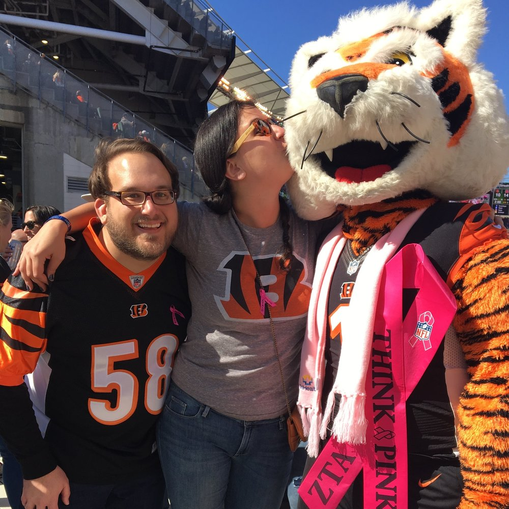 "Showing some ""Who Dey"" love"