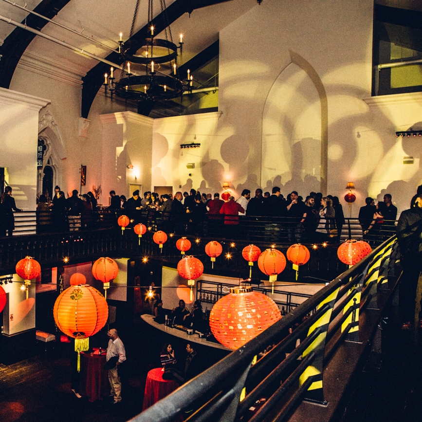 While we can't promise lanterns, The Transept is a cool converted church where we will host the resident cocktail hour on Jan 12. (photo credit: http://cincinnatirefined.com/lifestyle/photos-lunar-new-year-party-held-at-transept-otr-cincinnati-january-2017