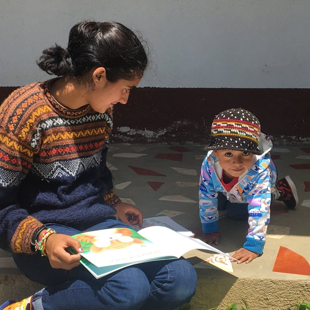 Making sure to promote literacy… both in Guatemala and in the US