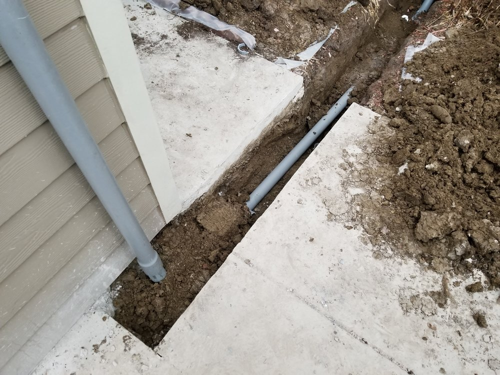 Underground Trenching to provide power to detached Garage.