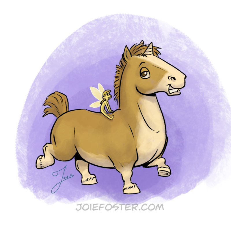 What the Corgicorn lacks in height, it makes up for in personality. This petite pony is found in ancient forests and glades. If you come across a gleaming sword set in a stone, odds are it'll be guarded by this furrocious guardian demanding treats for passage. It has been known to serve as a steed for the fairy kingdoms, giving rise to its colloquial name, Horse Bus.