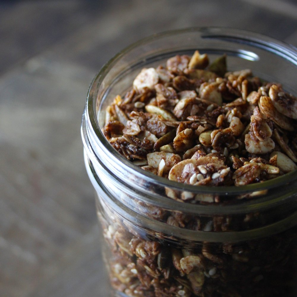 Chocolate Granola with Mexican Spices