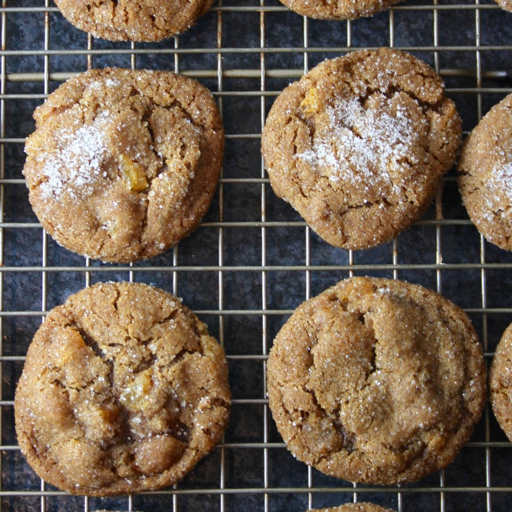 Chewy Apricot Ginger Cookies