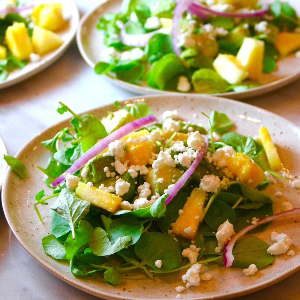 Cuban Salad with Pineapple and Avocado and Orange Sherry Vinaigrette