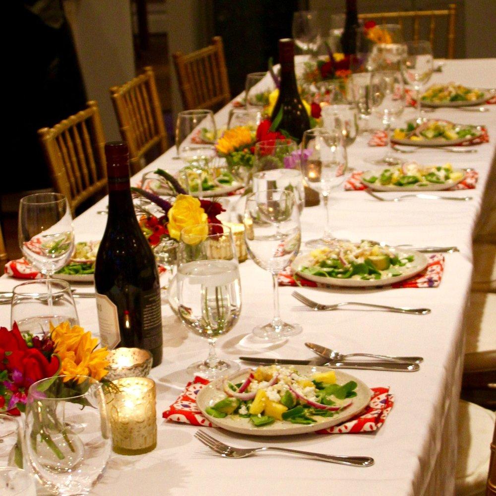 cuban dinner table setting