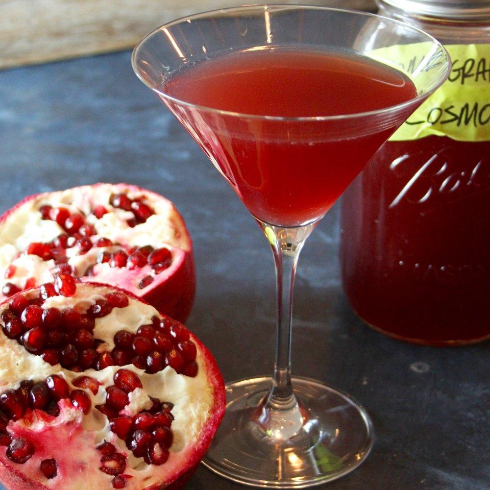 Icy Pomegranate Cosmopolitans