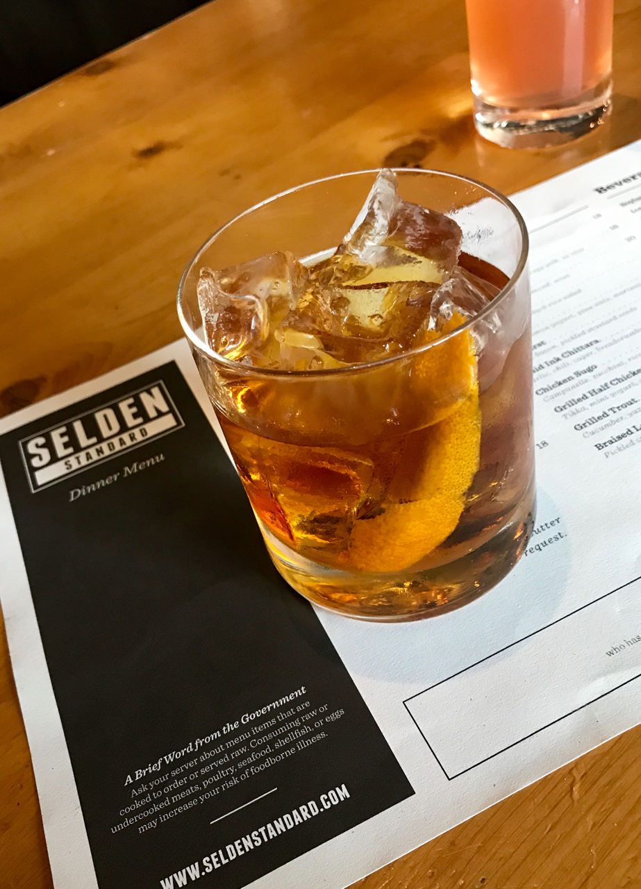 Strong cocktail game at Selden Standard - will book a table for dinner here next time.
