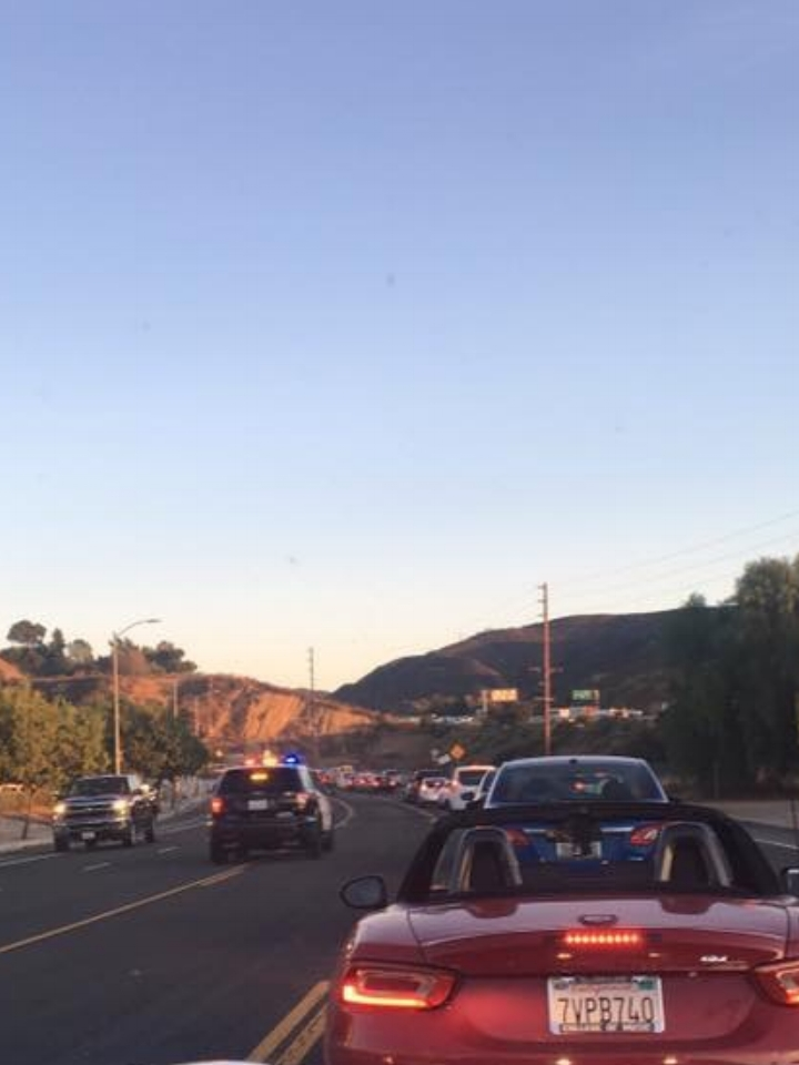 Squad car must drive on opposite side in Sunland-Tujunga