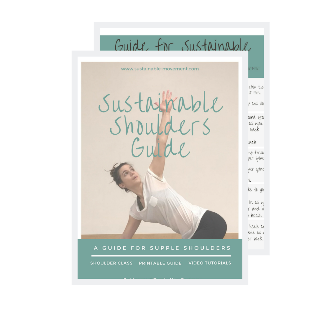 Have tight shoulders? - Sign up for our newsletter and receive a FREE copy of the Sustainable Shoulders Guide!