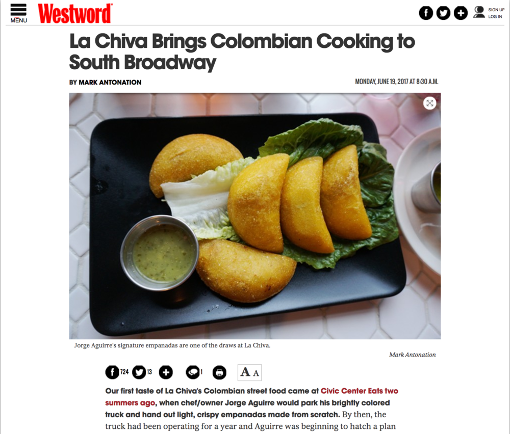 Westword: La Chiva Brings Colombian Cooking...