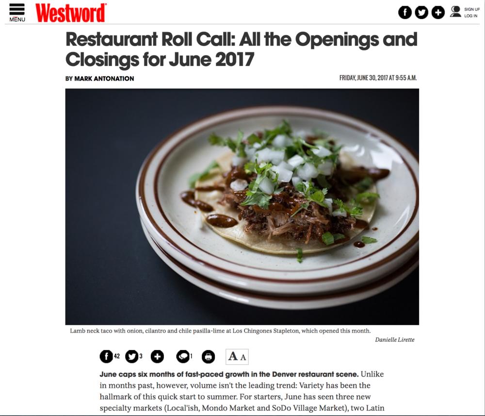 Westword Restaurant Roll Call -