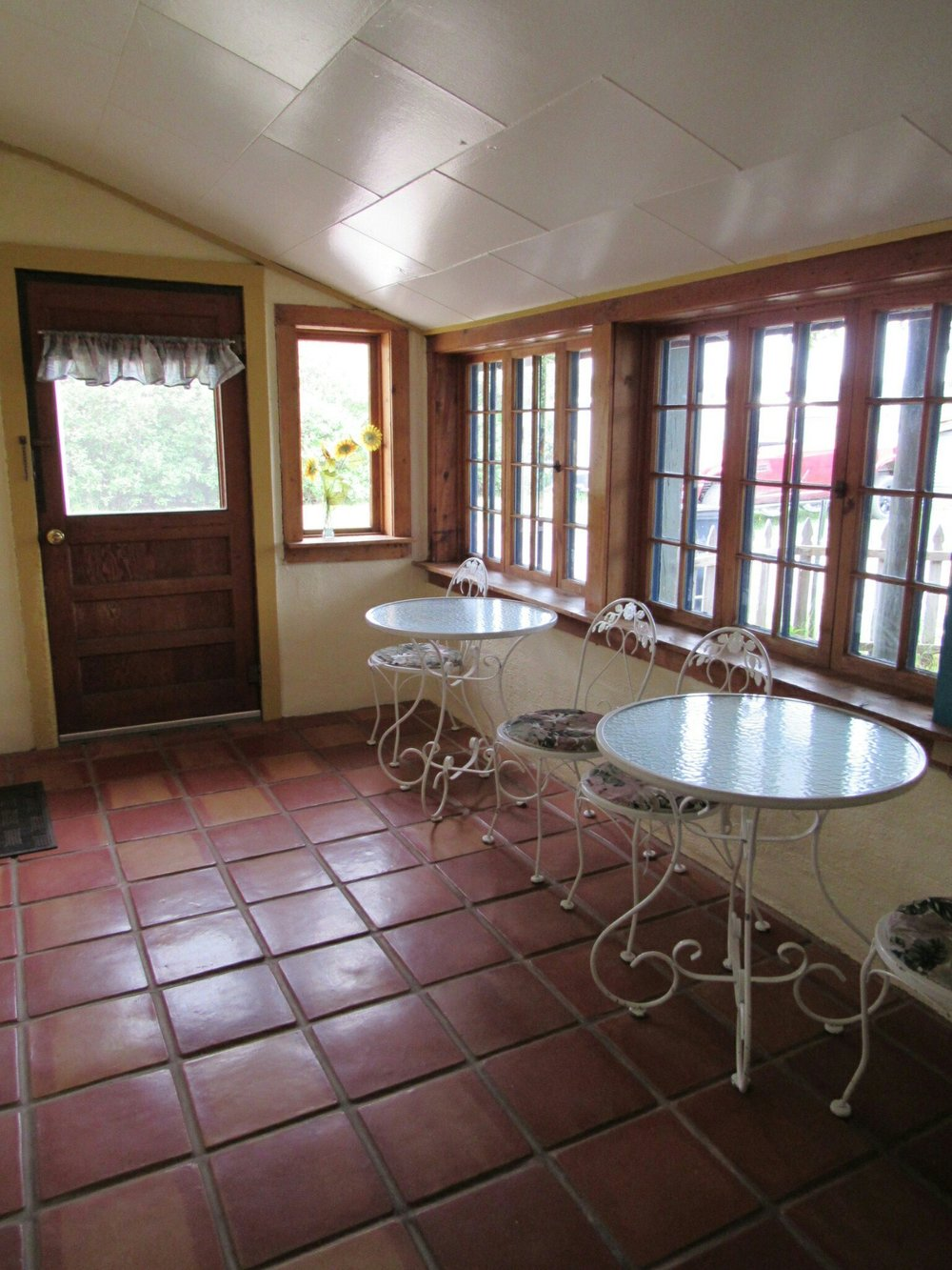 The Foyer to the Casita: A beautiful place for coffee in the morning or a game of cards in the evening.
