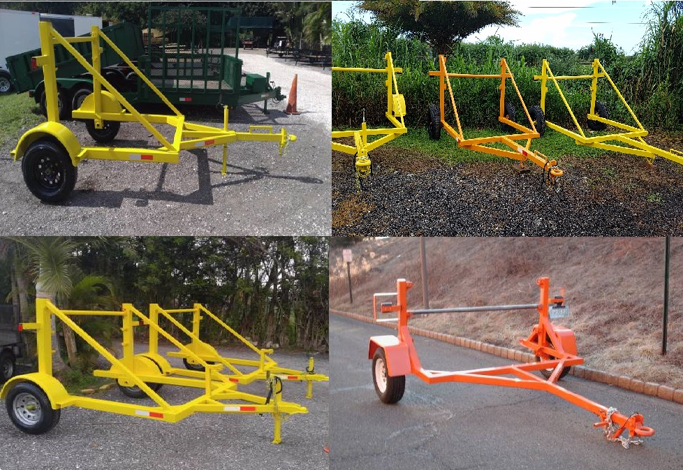 Cable fiber reel trailers -